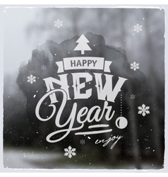 Happy New Year Creative graphic message for vector image