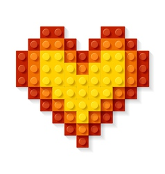 heart made plastic blocks vector image vector image