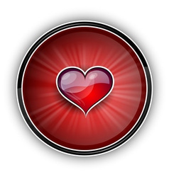 heart on the red symbol vector image