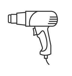 Heat gun linear icon vector
