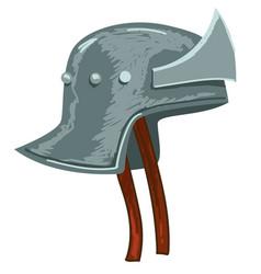 helmet soldier protective medieval headwear vector image