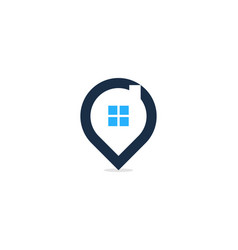 home point logo icon design vector image