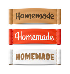 Homemade labels vector