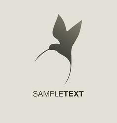 hummingbird silhouette logo vector image