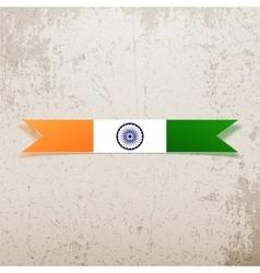 India national Tag and Ribbon vector