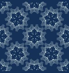 Indigo blue floral seamless pattern hand vector