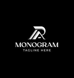 Initial letter ra ar r a monogram logo template vector