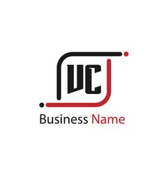 Initial letter vc logo template design vector