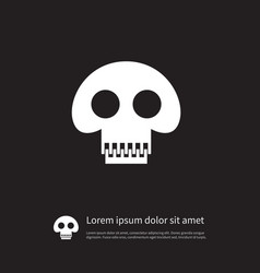 Isolated pirate icon scary element can be vector