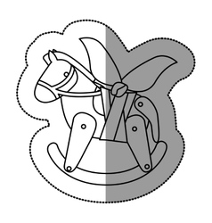Isolated toy horse damaged design vector