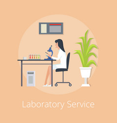 laboratory service orange on vector image