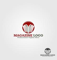 Magazine logo template vector