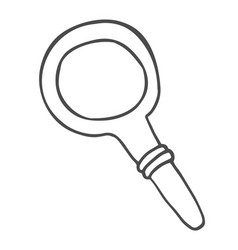 magnifying glass doodle icon search symbol hand vector image