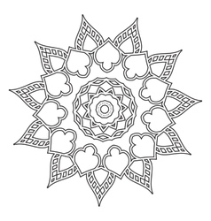 Mandala Hand drawn ethnic decorative elements vector