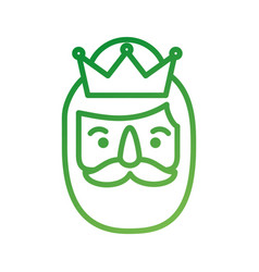 manger wise king face christmas celebration vector image vector image