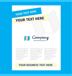 map title page design for company profile annual vector image