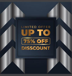 mega flash sales banners with black gold for sales vector image