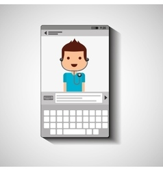 Mobile device health care doctor vector