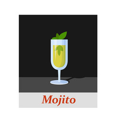 Mojito cocktail menu item or any kind of design vector