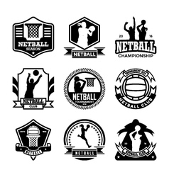 Netball badges vector
