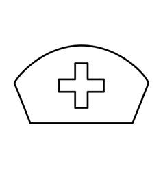 nurse hat uniform isolated icon vector image