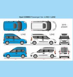 Opel combo passenger van l1h2 and l2h2 2016-presen vector