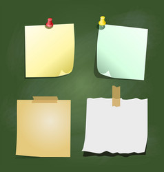 paper note on green board vector image