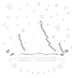 Paper origami christmas tree vector