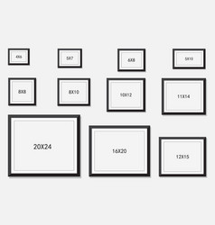 Photo and picture frame size vector