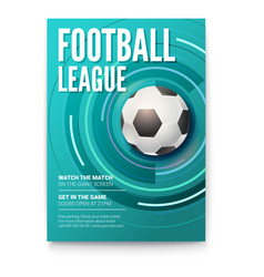 Poster of tournament football league soccer ball vector