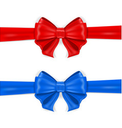 red and blue ribbon bows vector image