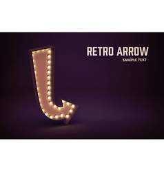retro glowing lamp theme eps 10 vintage sign vector image