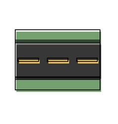 road icon image vector image