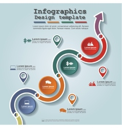 Road infographic timeline element layout vector image