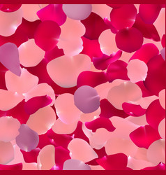 seamless pattern with rose petals vector image