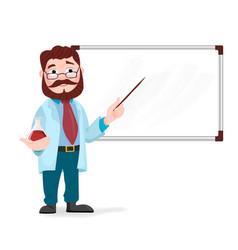 Senior science teacher scientist professor vector