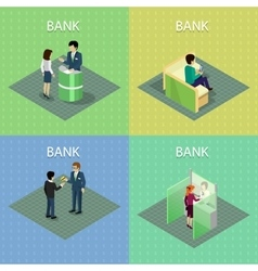Set of bank concepts in isometric projection vector