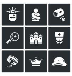 Set of Nuthouse Icons Diagnosis vector