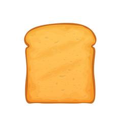 Slice loaf bread roasted sandwich vector