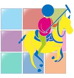 Sport icon design for equestrian vector