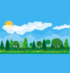 Summer nature landscape national park vector