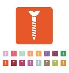 The Screw icon Bolt symbol Flat vector image