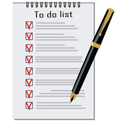 To do list with pen vector image