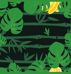 tropical forest pattern vector image