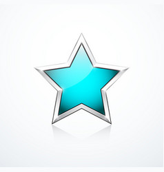 Turquoise star icon vector