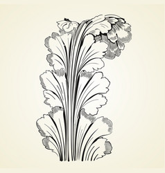 vintage tattoo floral ornament vector image