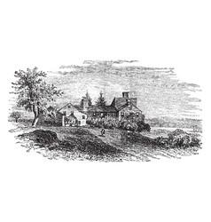Wentworth mansion vintage vector