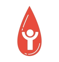 Blood donate icon vector image