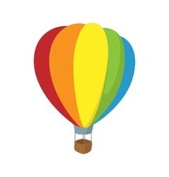 Colorful air balloon icon cartoon style vector image