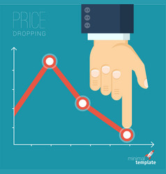 decreasing business graph vector image